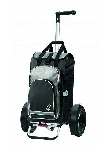 Nákupní taška Andersen TURA SHOPPER® HYDRO, nafukovací kolečka s kuličkovými ložisky, černá