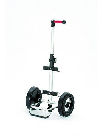 Nákupní taška Andersen TURA SHOPPER® ORTLIEB, nafukovací kolečka s kuličkovými ložiskami, stříbrná