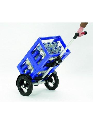 Taška na kolečkách Andersen TURA SHOPPER® CLINT, nafukovací kolečka s kuličkovými ložisky, červená