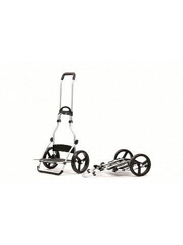 Nákupní taška Andersen ROYAL SHOPPER® SENTA, černo-bílá, kolečka nafukovací