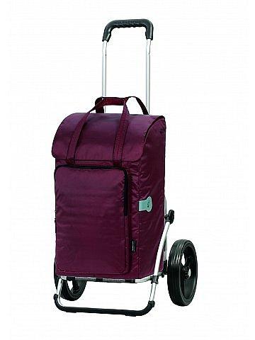 Nákupní taška Andersen ROYAL SHOPPER® NORA, bordó, kolečka nafukovací