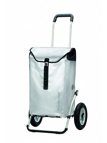 Andersen ROYAL SHOPPER® ORTLIEB, stříbrná, nafukovací kolečka s kuličkovými ložisky