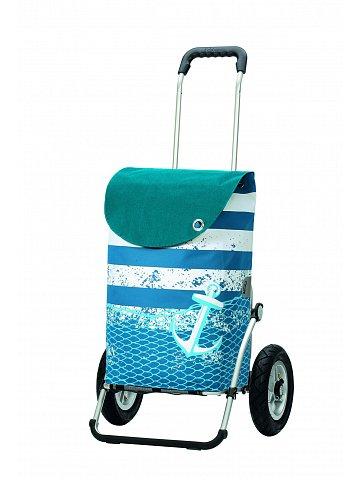 Andersen ROYAL SHOPPER® MEER, modrá, nafukovací kolečka s kuličkovými ložisky