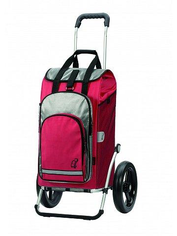 Taška na kolečkách Andersen ROYAL SHOPPER® HYDRO, červená, kolečko s kul. ložisky, průměr 29 cm