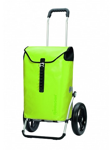 Taška na kolečkách Andersen ROYAL SHOPPER® ORTLIEB, zelená, kolečko s kul. ložisky, průměr 29 cm