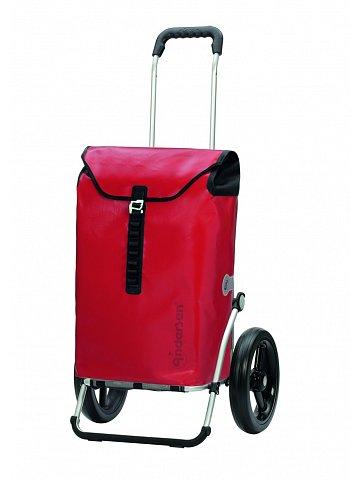 Taška na kolečkách Andersen ROYAL SHOPPER® ORTLIEB, červená, kolečko s kul. ložisky, průměr 29 cm