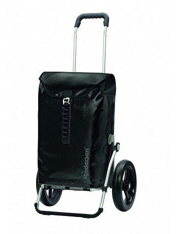 Taška na kolečkách Andersen ROYAL SHOPPER® ORTLIEB, černá, kolečko s kul. ložisky, průměr 29 cm