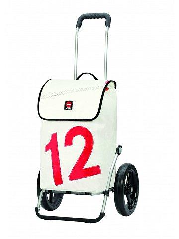 Nákupní taška Andersen ROYAL SHOPPER® 360° LUV 12, bílá, kolečko s kul. ložisky, průměr 29 cm