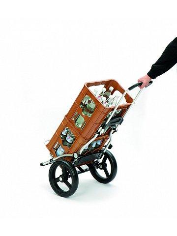 Nákupní taška Andersen ROYAL SHOPPER® 360° LUV 28, bílá, kolečko s kul. ložisky, průměr 29 cm