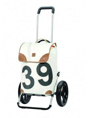 Nákupní taška Andersen ROYAL SHOPPER® 360° LEE 39, bílá, kolečko s kul. ložisky, průměr 29 cm