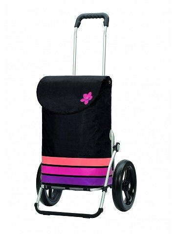 Andersen ROYAL SHOPPER® BLOM, černá+růžová, kolečko s kul. ložisky, průměr 29 cm