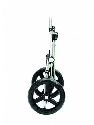 Taška na kolečkách Andersen ROYAL SHOPPER® KIRA, světle šedá, kolečko s kul. ložisky, průměr 29 cm