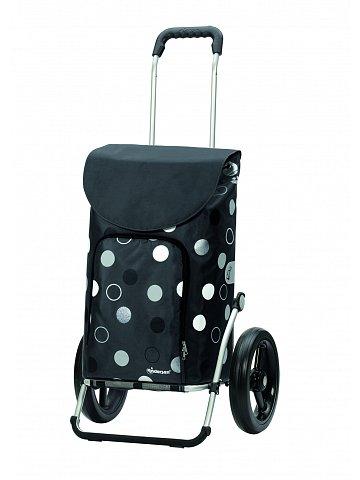 Taška na kolečkách Andersen ROYAL SHOPPER® KIRA, šedá, kolečko s kul. ložisky, průměr 29 cm