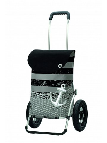 Andersen ROYAL SHOPPER® MEER, černá, nafukovací kolečko s kul. ložisky, průměr 29 cm