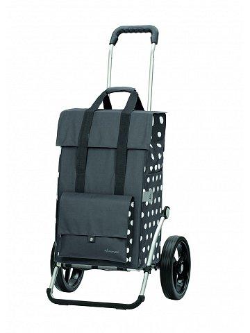 Taška na kolečkách Andersen ROYAL SHOPPER®  GERRY, šedá, kolečko standard, 49l
