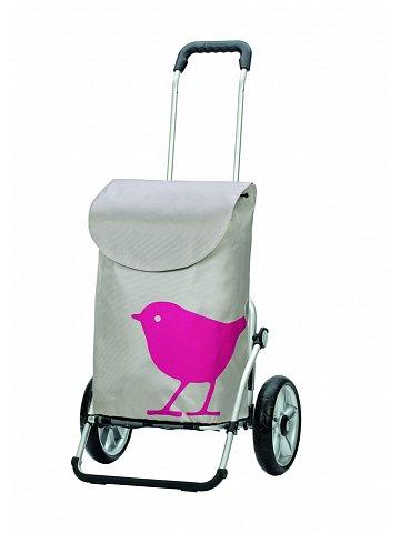 Andersen ROYAL SHOPPER®  BIRD, růžová, kolečko s kul. ložisky