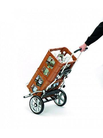 Taška na kolečkách Andersen ROYAL SHOPPER® SILA, stříbrná, kolečko s kul. ložisky