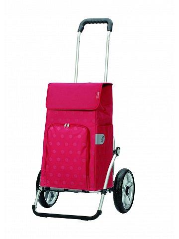Taška na kolečkách Andersen ROYAL SHOPPER® LIZZY, červená, kolečko s kul. ložisky