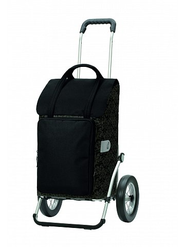Taška na kolečkách Andersen ROYAL SHOPPER® MIMI, černá, kolečko ocel. drát