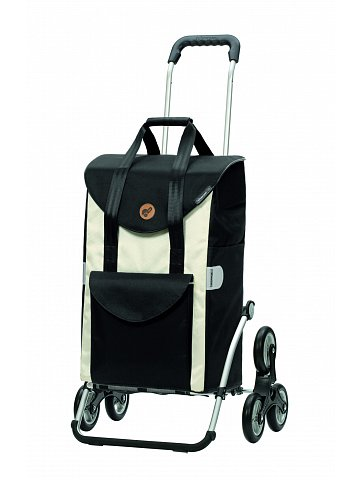 Nákupní taška Andersen TREPPENSTEIGER ROYAL SHOPPER® SENTA - DO SCHODŮ, černo-bílá