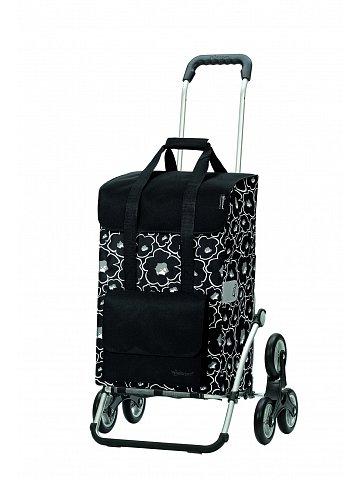 Nákupní taška Andersen TREPPENSTEIGER ROYAL SHOPPER® ALBA - DO SCHODŮ, černá
