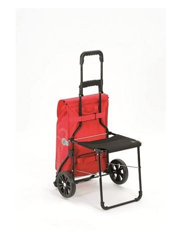 Nákupní taška se sedátkem Andersen KOMFORT SHOPPER® HERA, zelená