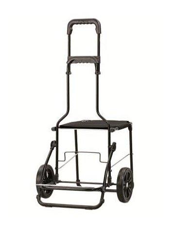 Nákupní taška se sedátkem Andersen KOMFORT SHOPPER® HERA, černá