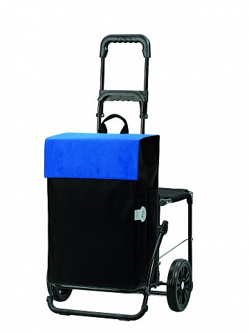 Nákupní taška se sedátkem Andersen KOMFORT SHOPPER® HERA, modrá
