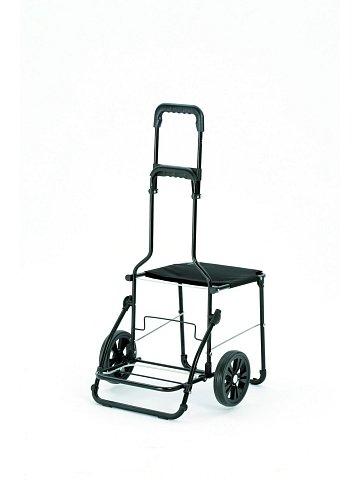 Nákupní taška se sedátkem Andersen KOMFORT SHOPPER® VIKA, černá