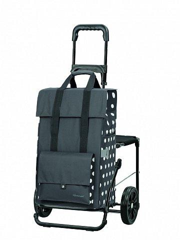 Nákupní taška se sedátkem Andersen KOMFORT SHOPPER® GERRY, šedá