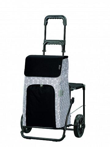 Nákupní taška na kolečkách se sedátkem Andersen KOMFORT SHOPPER® HENNI, bílá