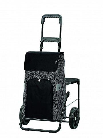 Taška na kolečkách se sedátkem Andersen KOMFORT SHOPPER® HENNI, černá