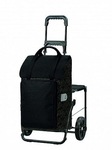Taška na kolečkách se sedátkem Andersen KOMFORT SHOPPER® MIMI, černá