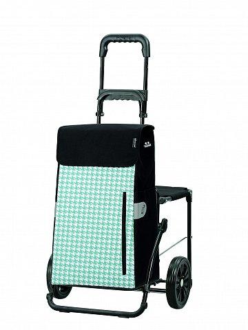 Nákupní taška na kolečkách se sedátkem Andersen KOMFORT SHOPPER® TILLY, tyrkysová