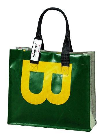 Taška Andersen SHOPPING BAG TRUCK TESSIN- taška z použité plachty nákladních vozidel - každá taška unikát!
