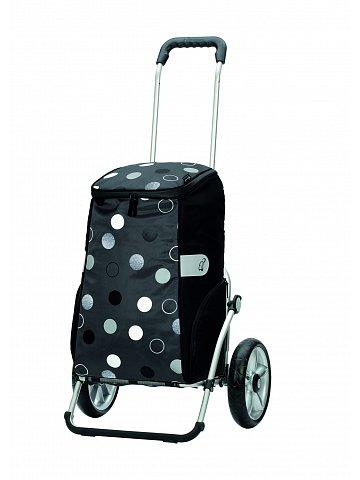 Taška na kolečkách Andersen ROYAL SHOPPER® SILA, černá, kolečko s kul. ložisky