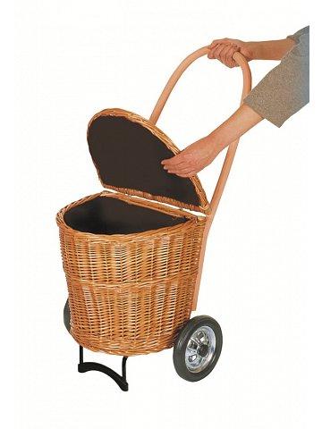 Nákupní koš - taška na kolečkách ANDERSEN KORB SHOPPER®  NATURA, tmavý,  látkou uvnitř