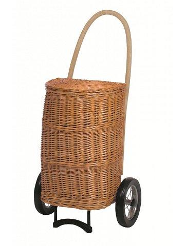 Nákupní koš - taška na kolečkách ANDERSEN KORB SHOPPER® NATURA XXL creme, s látkou uvnitř