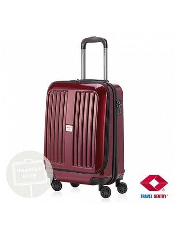 Kufr na kolečkách Hauptstadtkoffer X-BERG, 42l, TSA zámek, burgund, lesklý