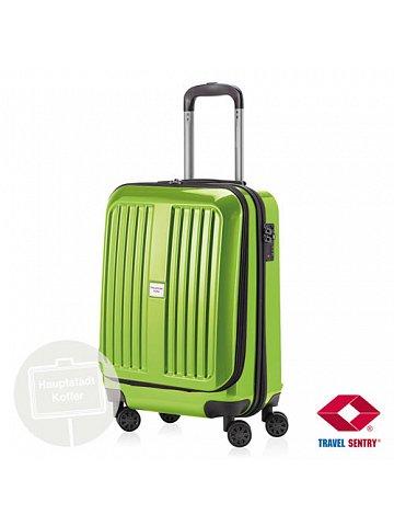 Kufr na kolečkách Hauptstadtkoffer X-BERG, 42l, TSA zámek, zelený, lesklý
