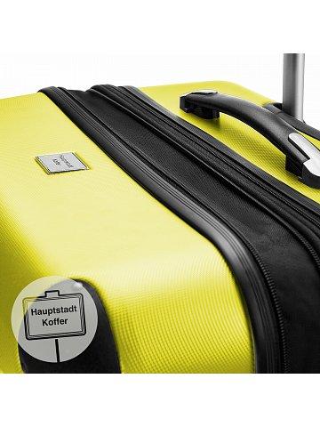 Kufr na kolečkách Hauptstadtkoffer SPREE, 82l, TSA zámek, žlutý
