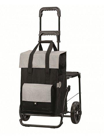 Nákupní taška se sedátkem Andersen KOMFORT SHOPPER® MILLA, černá