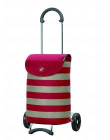Nákupní taška na kolečkách Andersen Scala Shopper Ida červená, 36l