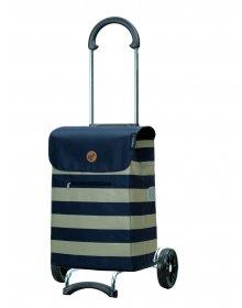 Nákupní taška na kolečkách Andersen Scala Shopper Lina modrá, 34l