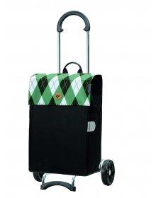 Nákupní taška na kolečkách Andersen Scala Shopper Anea zelená, 44l