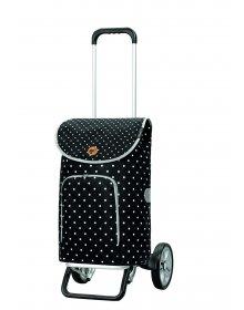 Nákupní taška na kolečkách Andersen Alu Star Shopper Ole, černá, 41l