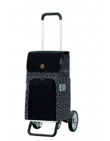 Nákupní taška na kolečkách Andersen Alu Star Shopper Mara, černá, 47l