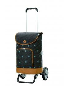 Nákupní taška na kolečkách Andersen Alu Star Shopper Holm, šedá, 41l