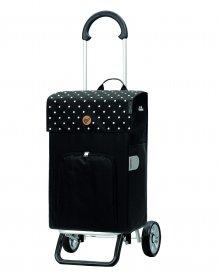 Nákupní taška na kolečkách Andersen Scala Shopper Plus Malit černá, 45l