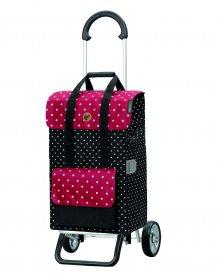 Nákupní taška na kolečkách Andersen Scala Shopper Plus Rul, černá, 51l